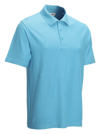 right facing classic polo shirt sky blue