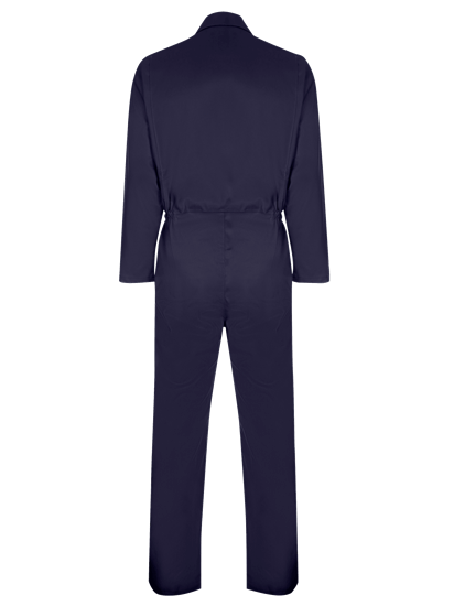 back of coverall made from phoenix in navy