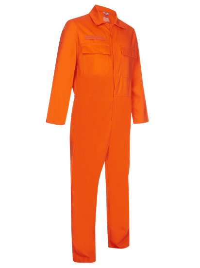 coverall made from phoenix in orange