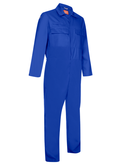 coverall made from phoenix in royal blue