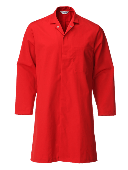 red food trade coat with pocket