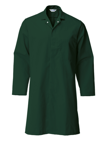lower pocket food trade coat in bottle green