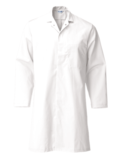 super white food trade coat