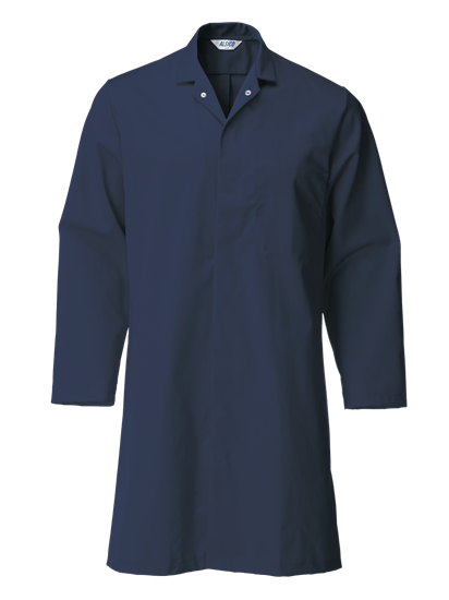 navy food trade coat with no pockets