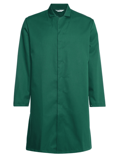 food trade coat green