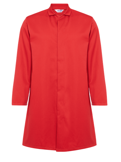 food trade coat in red
