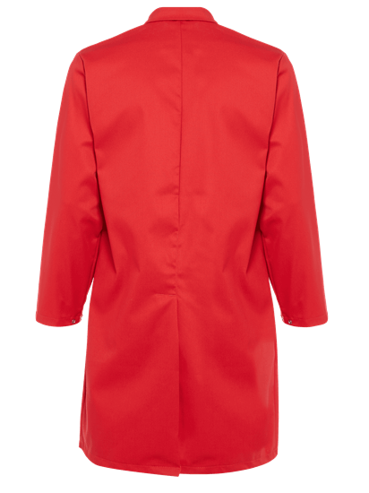 red food coat with no pockets back