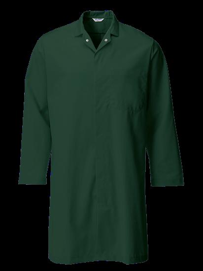 bottle green food trade coat with upper pocket