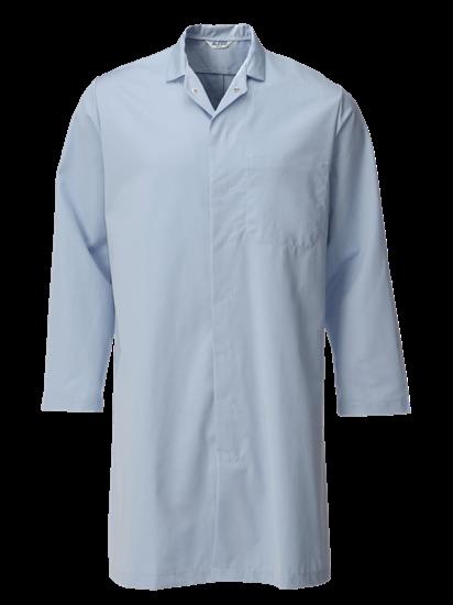 light blue food trade coat with upper pocket