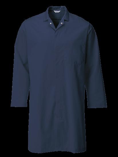 navy food trade coat with upper pocket
