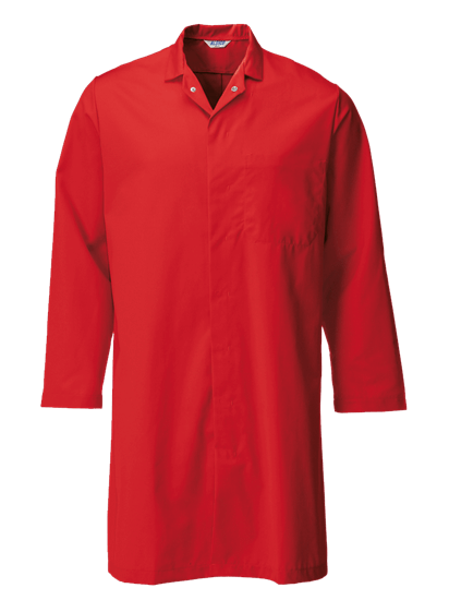 red food trade coat with upper pocket