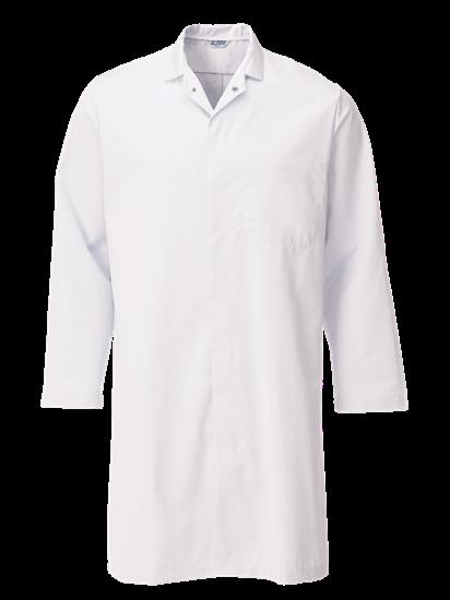 super white food trade coat with upper pocket