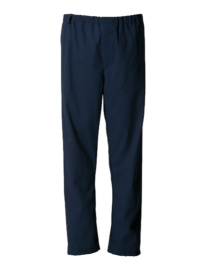navy food trade trouser with fully elasticated waist