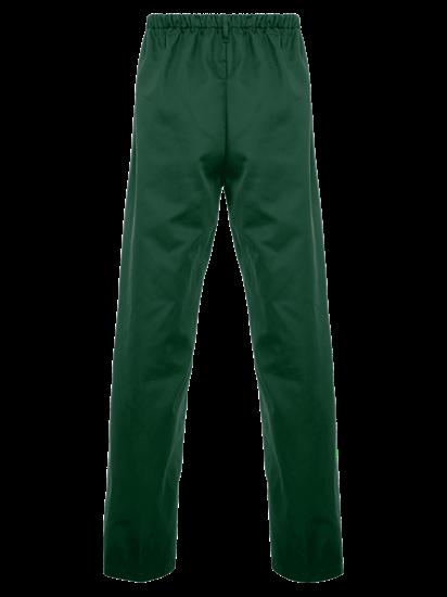 back of bottle green food trade trouser full elasticated waist