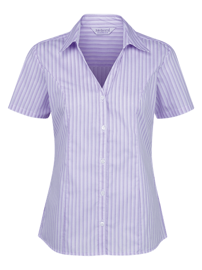 lilac and white georgia stripe blouse