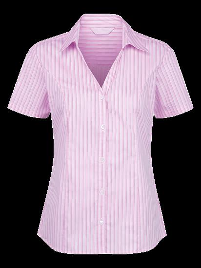 pink and white georgia stripe blouse