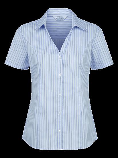 blue and white georgia stripe blouse