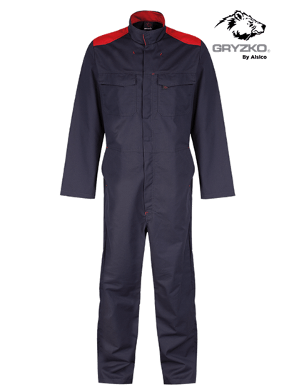 blue shadow and red gryzko bi coverall