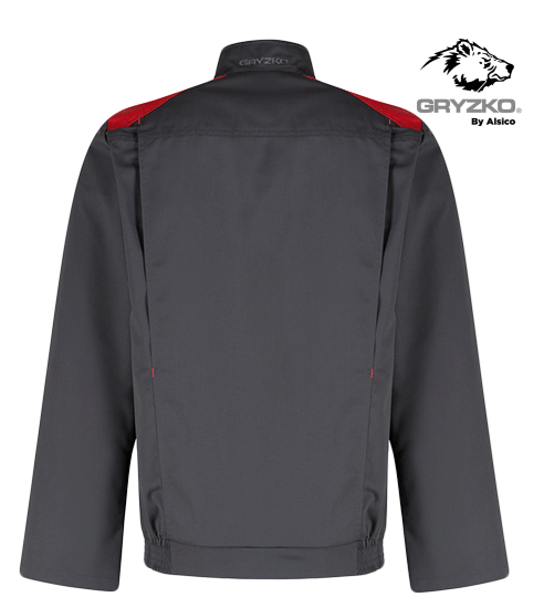 back of black and empire red gryzko bi jacket