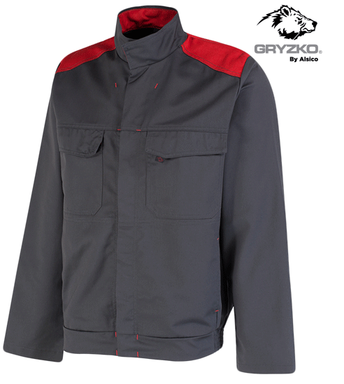 black and empire red gryzko bi jacket facing right