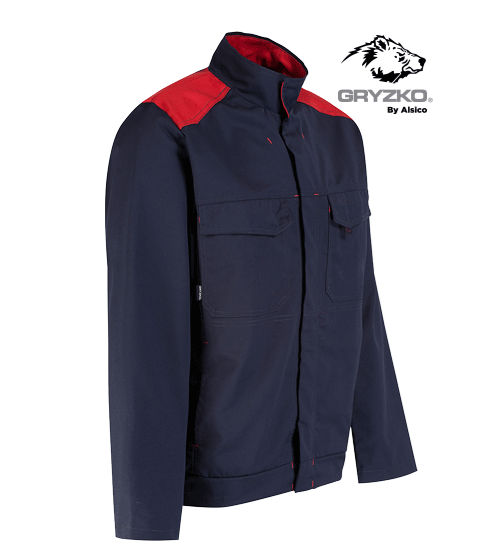 side angle of blue shadow and empire red gryzko bi jacket