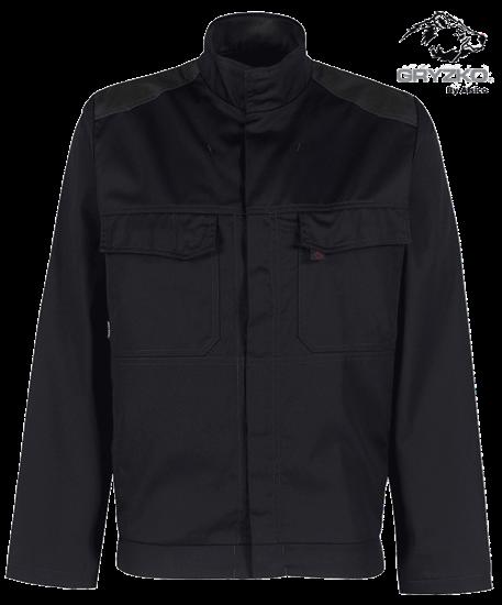 charcoal and racing green contrast gryzko bi jacket