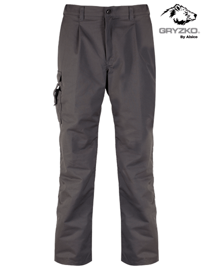 charcoal cargo trouser manufactured by gryzko