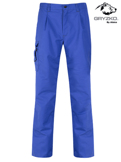 royal blue gryzko trousers in cargo style
