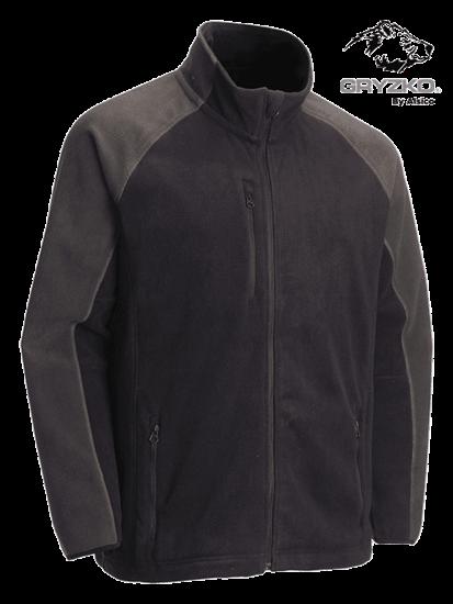 navy charcoal gryzko heavyweight fleece jacket