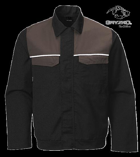 gryzko classic black jacket in black charcoal
