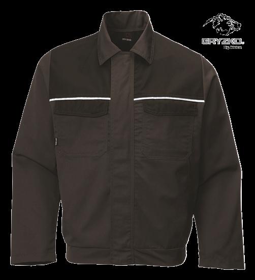 gryzko classic jacket in charcoal black