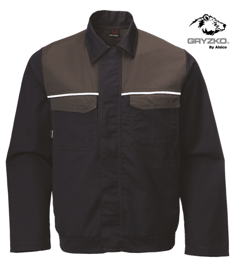 blue shadow and charcoal gryzko classic jacket