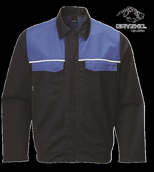 navy and royal blue classic gryzko jacket
