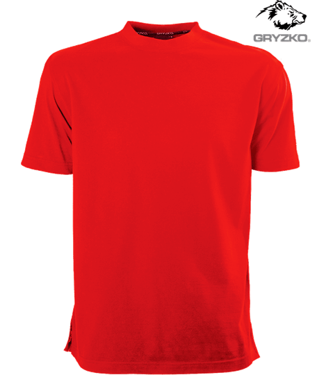 red gryzko heavyweight t-shirt