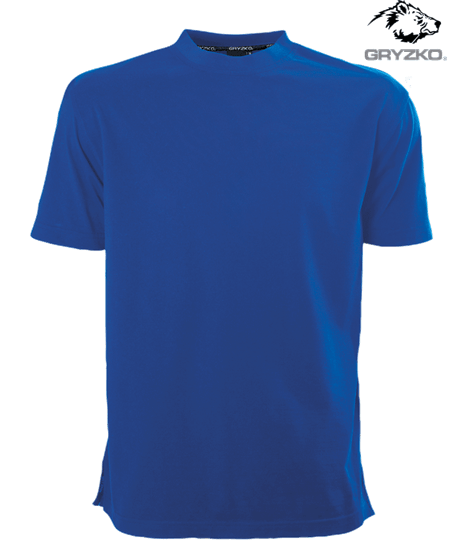 gryzko heavyweight t-shirt in royal blue
