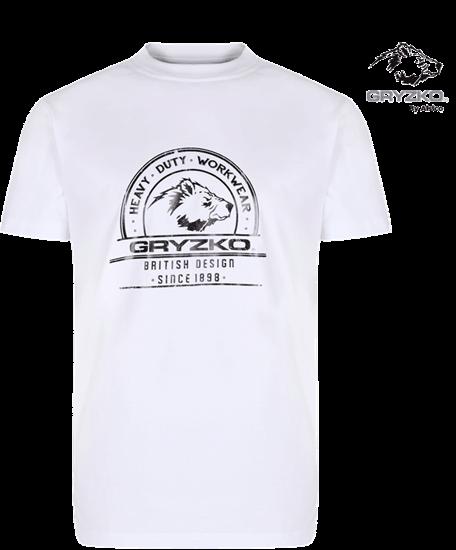 polycotton heavyweight t-shirt gryzko super white