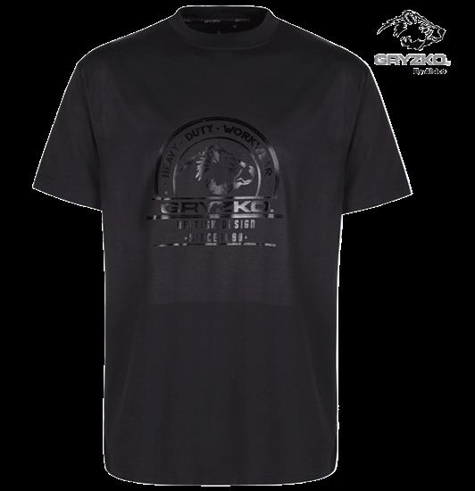 polycotton gryzko heavyweight t-shirt in black