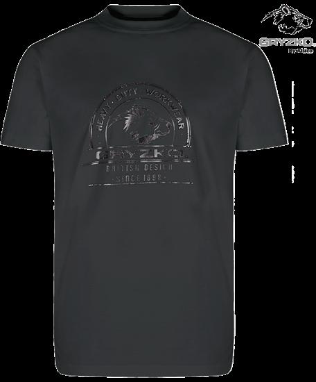 charcoal heavyweight gryzko t-shirt polycotton