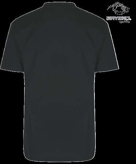 back of charcoal heavyweight gryzko t-shirt polycotton