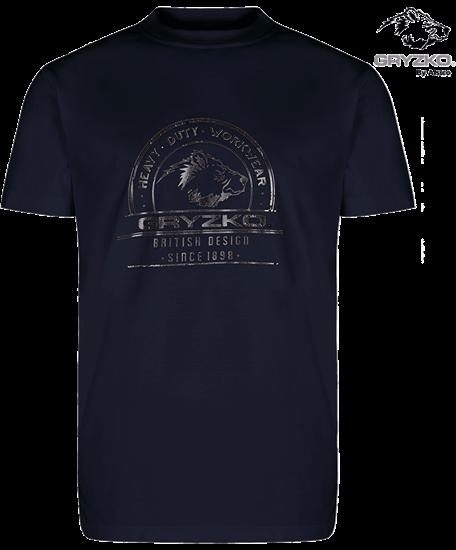 navy heavyweight gryzko t-shirt polycotton