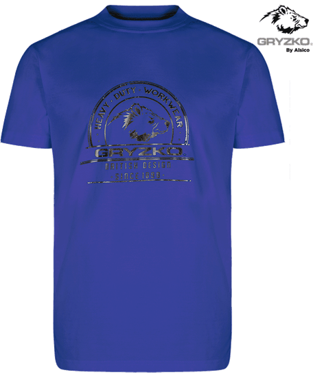 gryzko heavyweight royal blue t-shirt in polycotton