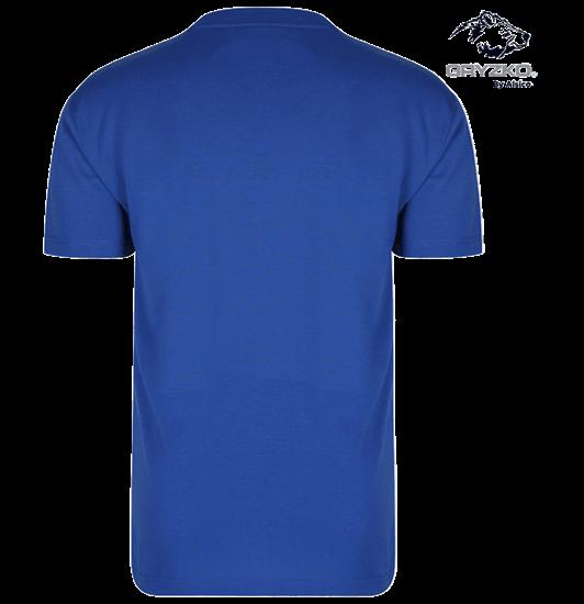 back of gryzko heavyweight royal blue t-shirt in polycotton
