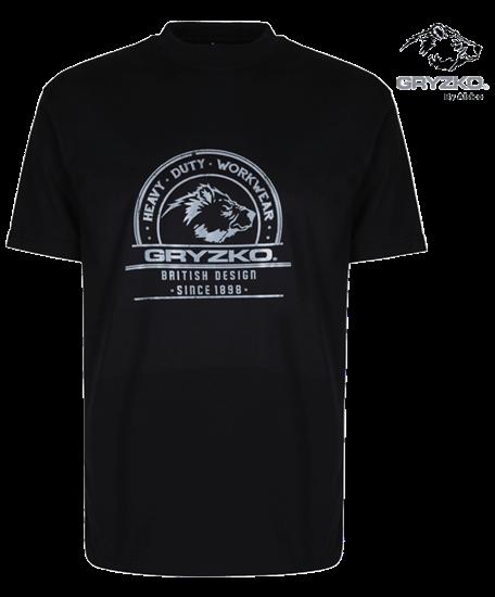 heavyweight polycotton t-shirt in black