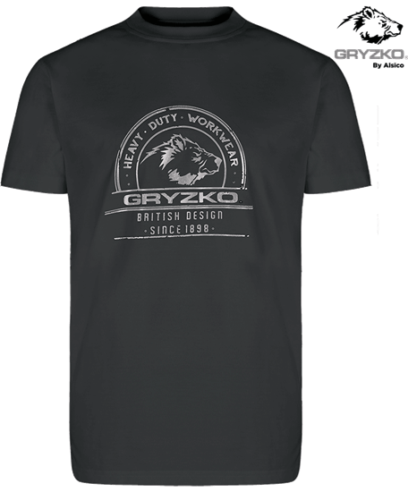 charcoal heavyweight polycotton t-shirt