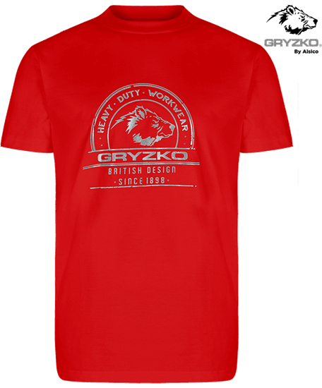 heavyweight polycotton t-shirt in red