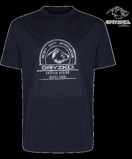 navy heaveyweight polycotton t-shirt