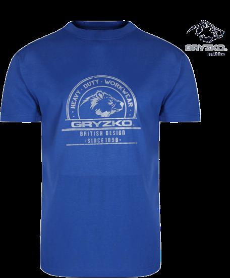 royal blue heavyweight polycotton t-shirt
