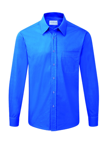 male long sleeve shirt in azure