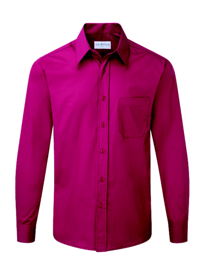 male long sleeve shirt in smokeberry