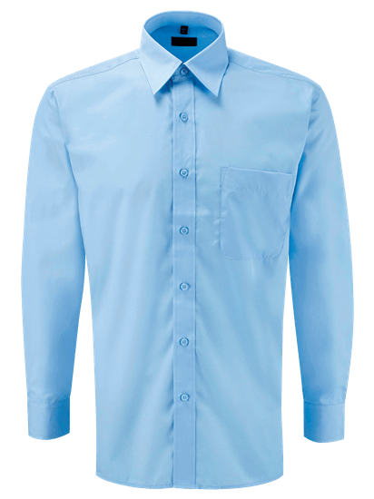 light blue male long sleeve shirt